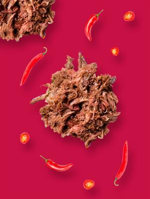 Carne seca com Creme de Pimenta Hot Pepper Mendez