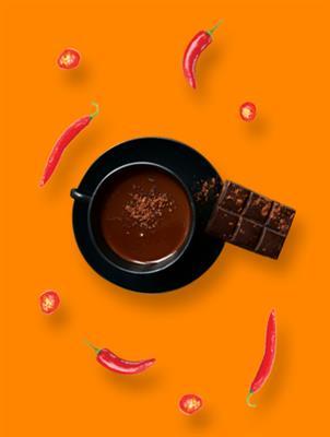 Drink de chocolate com pimenta