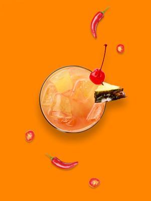 Drink de morango com Molho de Pimenta Habanero Mendez