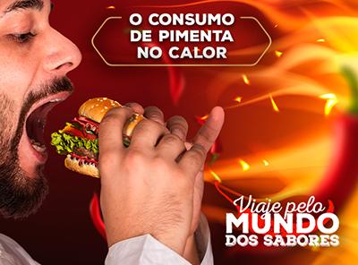 O consumo de pimenta durante o calor