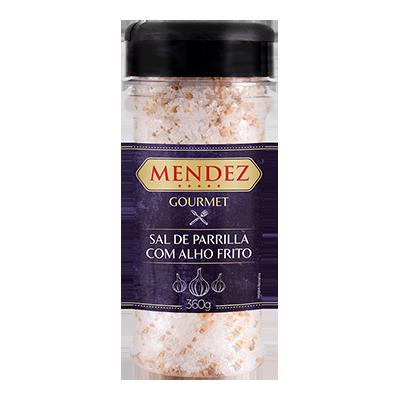 Sal de Parrilla Gourmet Alho Frito Mendez 360g