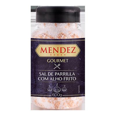 Sal de Parrilla Gourmet Alho Frito Mendez 600g