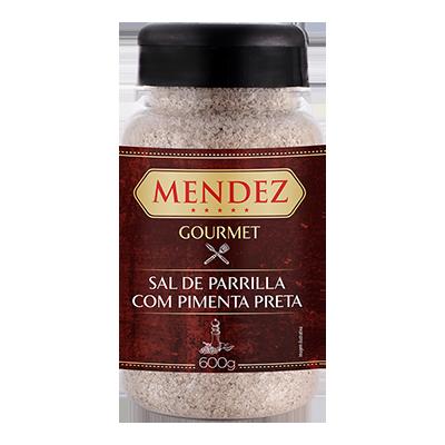 Sal de Parrilla Gourmet Pimenta do Reino Mendez 600g
