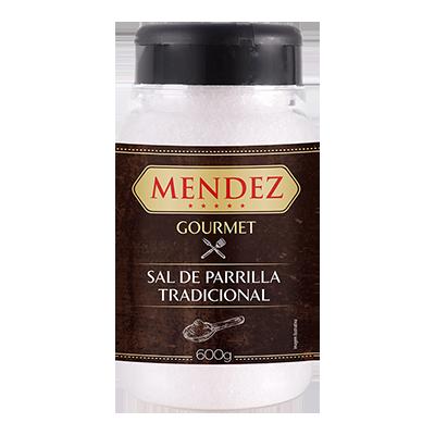 Sal de Parrilla Gourmet Tradicional Mendez 600g